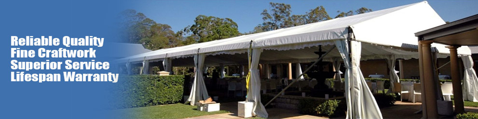 Barraca exterior do evento