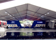 Long Span Life Large Capacity Trade Show Tents , Durable Air Conditioned Exhibition Tent