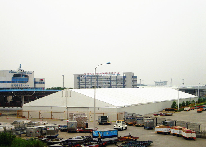Long Span Life Temporary Warehouse Fabric Tent Buildings For Industrial Storage